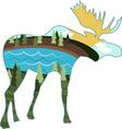 Landscape Moose vector image vector image