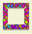 multicolor square frame in the style of random vector image vector image