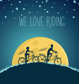 night cycling vector image