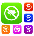 no flea sign set collection vector image vector image