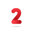 Number 2 logo icon design template elements vector image