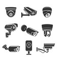 outdoor security cameras vector image vector image