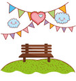 park setting cartoon vector image