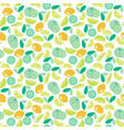pattern with lime lemon and orange slices vector image vector image