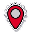 pin pointer location isolated icon vector image vector image