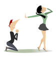 quarrel between man and woman isolate vector image vector image