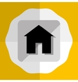 Real estate Round icon graphic vector image