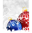 Red and blue Christmas balls vector image vector image