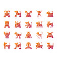 robot dog simple gradient icons set vector image vector image