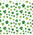 seamless green shamrocks pattern or vector image vector image