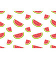 seamless pattern with watermelons and slices vector image vector image