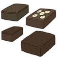 set brownie vector image vector image