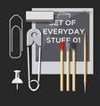 set everyday stuff vector image vector image