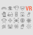 set of line icons - virtual reality vector image vector image