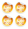 set with autumn sale stickers vector image vector image