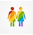 Sign of couple women LGBT card vector image