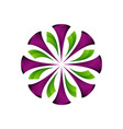 stylish colorful 3d round floral logo eps 10 vector image vector image