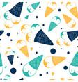 sweet penguin ice cream seamless pattern vector image