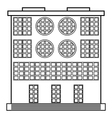 The building icon vector image vector image