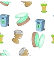 Types of waste pattern cartoon style vector image vector image