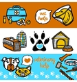Veterinary Banners Set vector image vector image