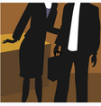 lady and man in office vector image