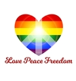 love peace freedom vector image