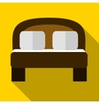 Double bed flat icon vector image
