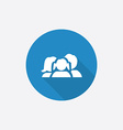 family Flat Blue Simple Icon with long shadow vector image