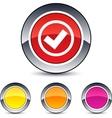 mark round button vector image