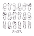 Cute collection of little girls shoes vector image
