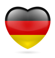 Heart icon of Germany vector image