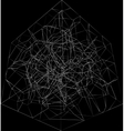 abstract fractal black background vector image