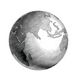 antique globe hand drawing vintage style black vector image
