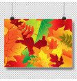 autumn banner isolated transparent background vector image vector image