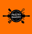 bakery pastry logo letters circle baker shop icon