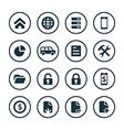 bank icons universal set vector image vector image