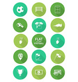 Basic soccer or football icons set in flat design vector image vector image