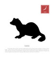 black silhouette of a japanese sable vector image vector image