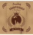 Bowling Championship Vintage Style Design vector image vector image