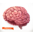 brain 3d icon vector image vector image
