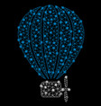 bright mesh wire frame air balloon with light vector image vector image