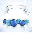 Christmas blue balls vector image vector image
