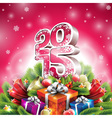 christmas with 3d 2015 typographic de vector image vector image