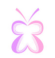 colored abstract beautiful butterfly icon vector image vector image