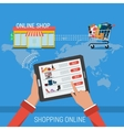 CONCEPT PROCESS SHOPPING ONLINE vector image vector image