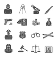 Crime and Punishment Icons Set vector image vector image
