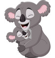 cute mother koala and bahugging vector image vector image