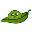 cute pea on white background vector image vector image