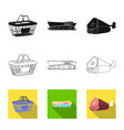 design of food and drink icon set of food vector image